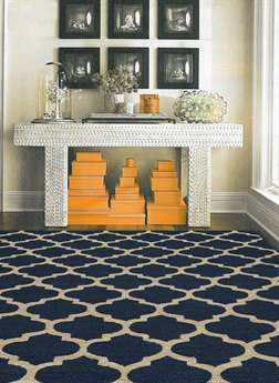 Momeni Geo Rectangular Navy Area Rug