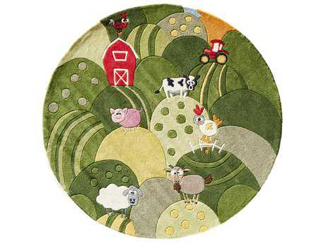 Momeni Lil Mo Whimsy 5' Round Grass Area Rug
