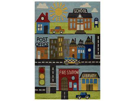 Momeni Lil Mo Whimsy Rectangular Town Area Rug