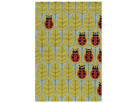 Momeni Lil Mo Whimsy Rectangular Lady Bug Red Area Rug