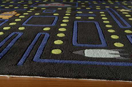 Momeni Lil Mo Whimsy Rectangular Arcade Black Area Rug