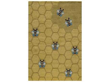 Momeni Lil Mo Whimsy Rectangular Honeycomb Gold Area Rug
