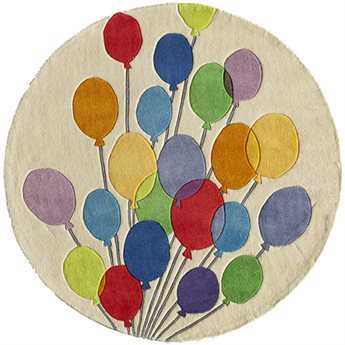 Momeni Lil Mo Whimsy 5' Round Balloons Area Rug