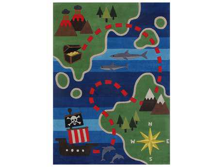 Momeni Lilmowhimsy Rectangular Blue Area Rug