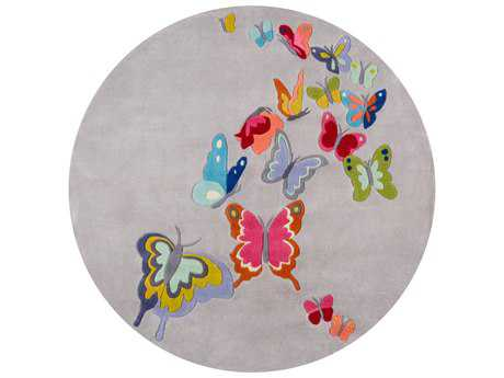 Momeni Lil Mo Whimsy Grey 5' Round Area Rug