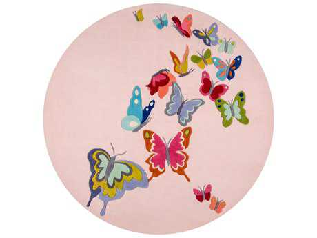 Momeni Lil Mo Whimsy Pink 5' Round Area Rug