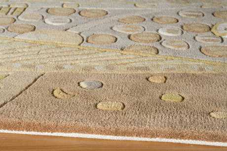 Momeni New Wave Rectangular Beige Area Rug