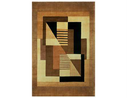 Momeni New Wave Rectangular Gold Area Rug