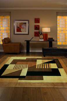 Momeni New Wave Round Gold Area Rug
