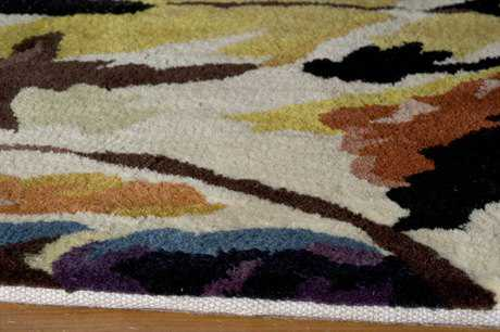 Momeni New Wave Rectangular Ivory Area Rug