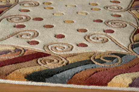 Momeni New Wave Round Beige Area Rug