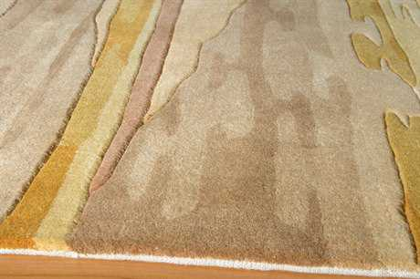 Momeni New Wave Round Sand Area Rug