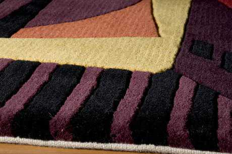 Momeni New Wave Round Plum Area Rug