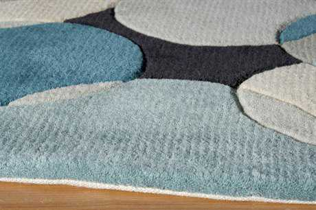 Momeni New Wave Teal Runner Rug