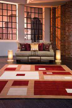 Momeni New Wave Round Red Area Rug