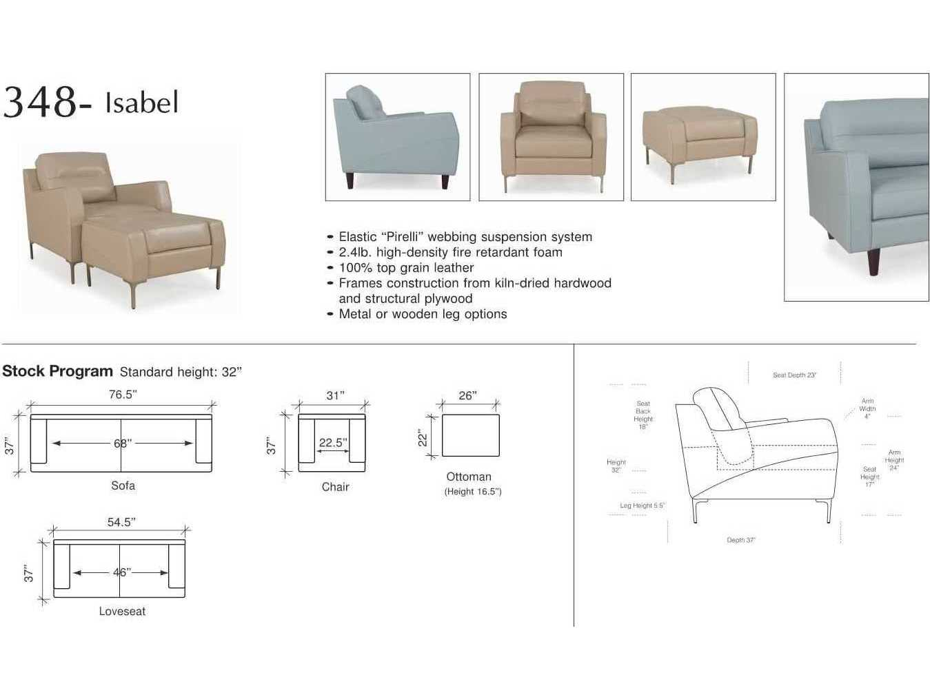Moroni Isabel Mid Century Bluette Sofa Mor34803ms1343