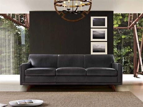 Moroni Milo Mid-Century Charcoal Sofa