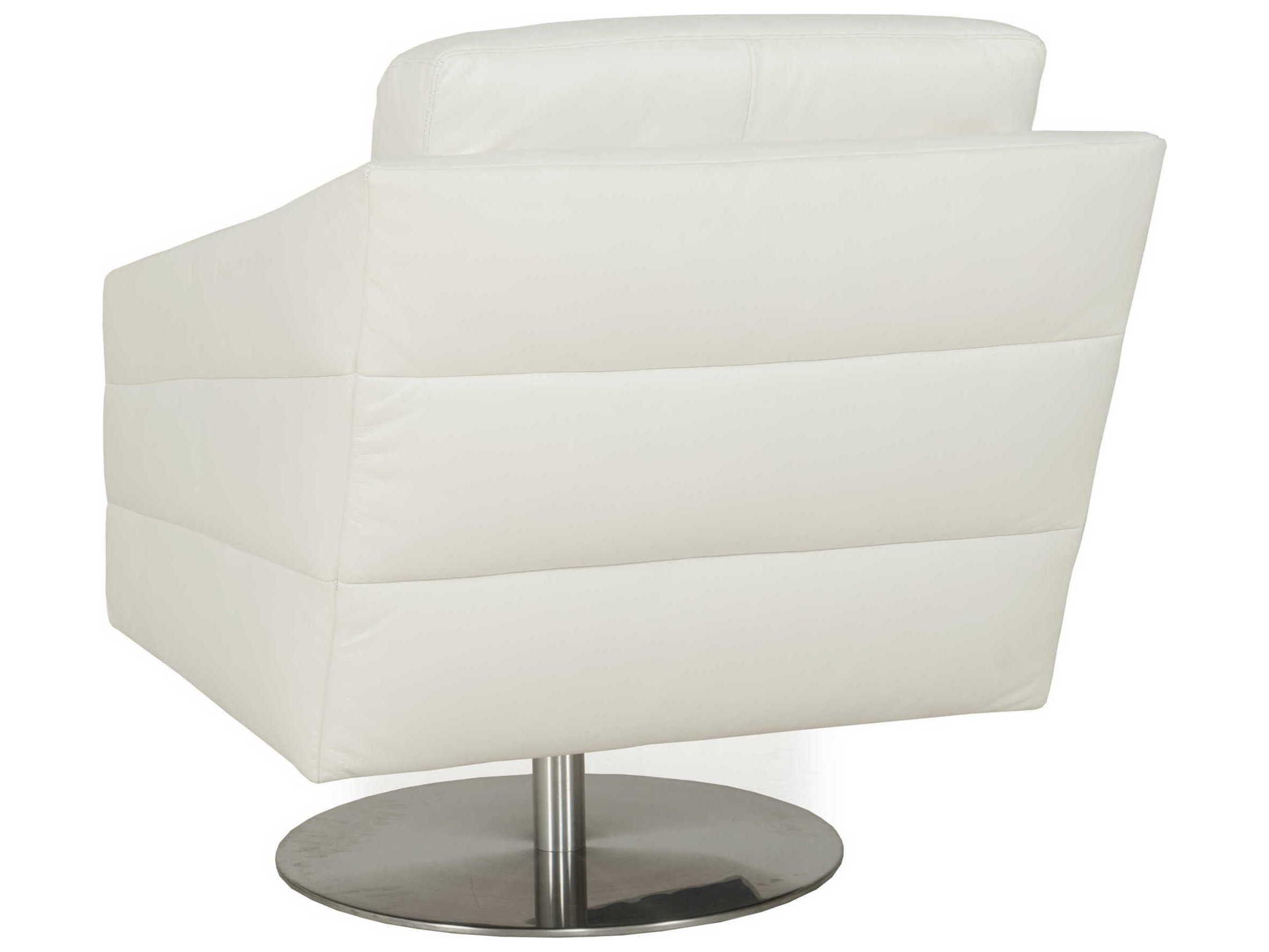 ... Moroni Eagle Contemporary White Swivel Club Chair ...