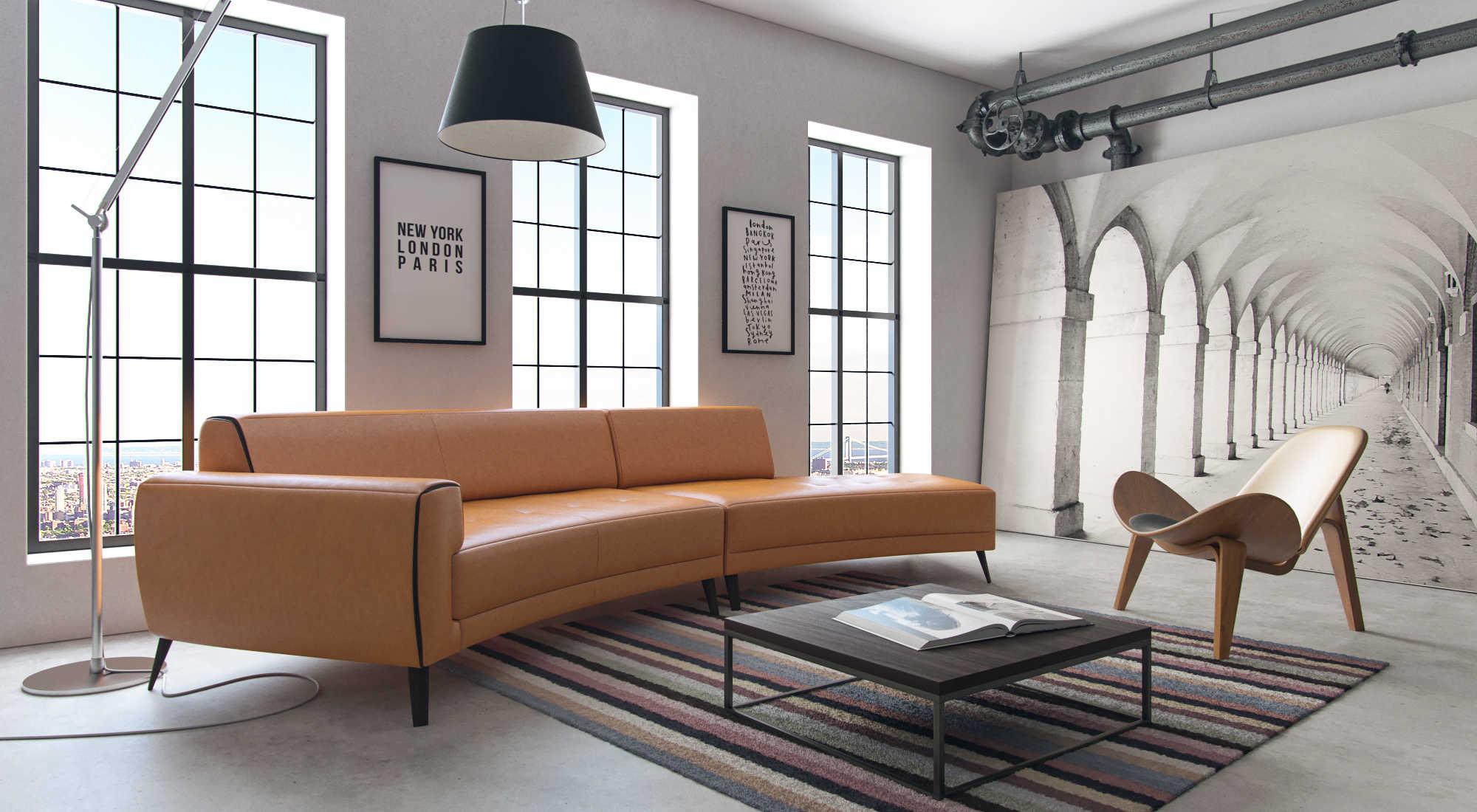 Moroni Casablanca Honey Two Piece Sectional Sofa