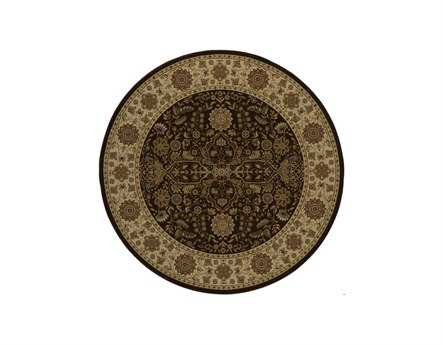 Momeni Royal 7'10''' Round Brown Area Rug
