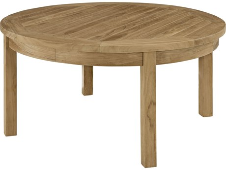 Modway Outdoor Marina Natural Teak 40'' Wide Round Coffee Table