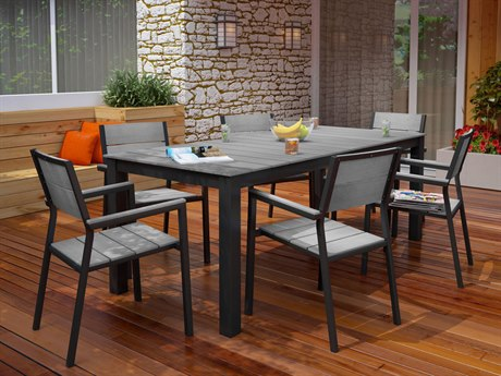 Modway Outdoor Maine Brown & Gray Resin 7 Piece Dining Set