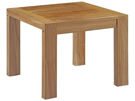 Modway Outdoor Upland Natural Teak 20'' Wide Square Side Table