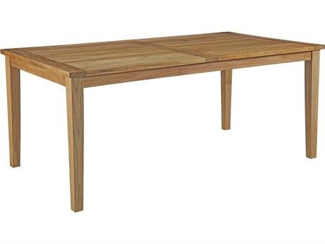 Modway Outdoor Marina Natural Teak 72''W x 40''D Rectangular Dining Table