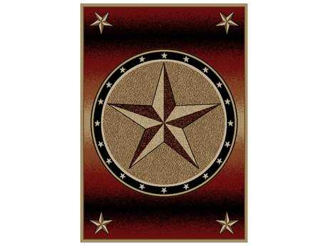 Mayberry American Destination Amarillo Rust 5'3 x 7'3 Rectangular Red Area Rug