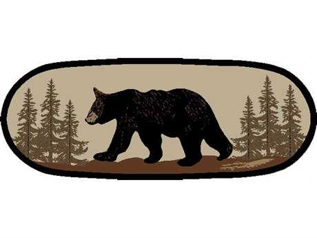 Mayberry American Destination Bearwalk Oval Multi Area Rug