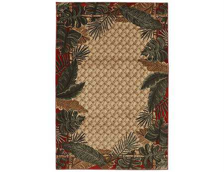 Mayberry Harbor Bay Rain Forest Rectangular Beige Area Rug