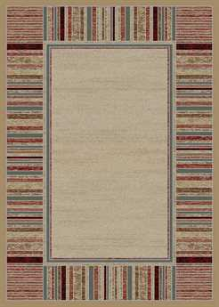 Mayberry Home Town Strata Rectangular Ivory Area Rug