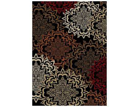 Mayberry Home Town Karma Rectangular Black Area Rug
