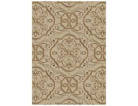Mayberry Home Town Empire Rectangular Beige Area Rug