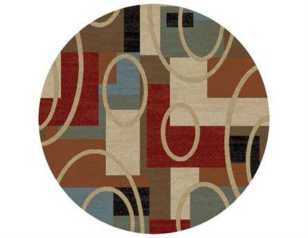 Mayberry Home Town Broadway Round  Beige Area Rug