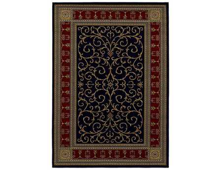 Mayberry Home Town Paloma Rectangular Black Area Rug