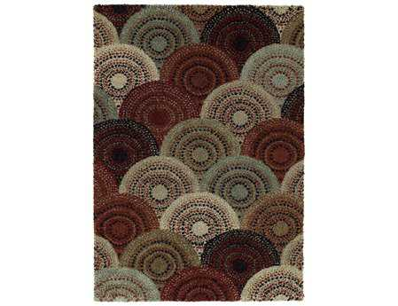 Mayberry Shaggy Supreme Lorne Rectangular Brown Area Rug