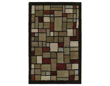 Mayberry Shaggy Supreme Broadway  Rectangular Brown Area Rug