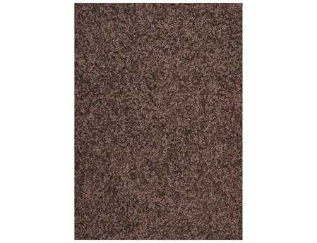 Mayberry Super Shag Cloud Rectangular Brown Area Rug