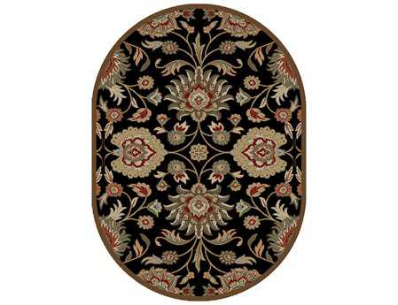 Mayberry Timeless Viola Oval Black Area Rug