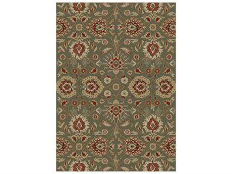 Mayberry Timeless Viola Rectangular Green Area Rug