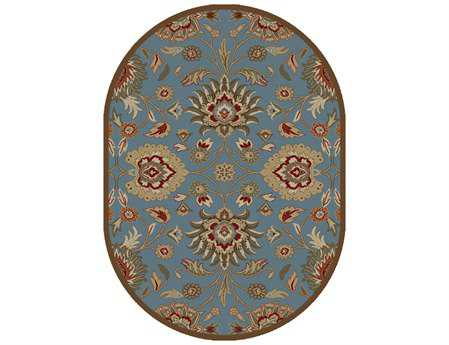 Mayberry Timeless Viola Oval Blue Area Rug