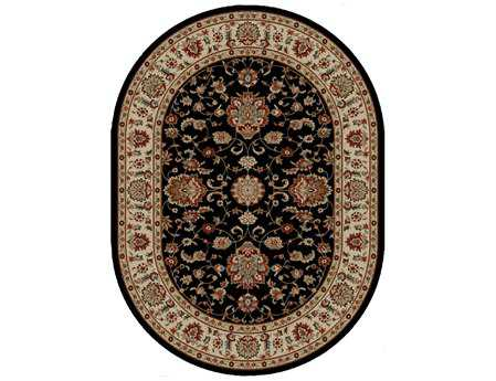 Mayberry Timeless Olivia Oval Black Area Rug