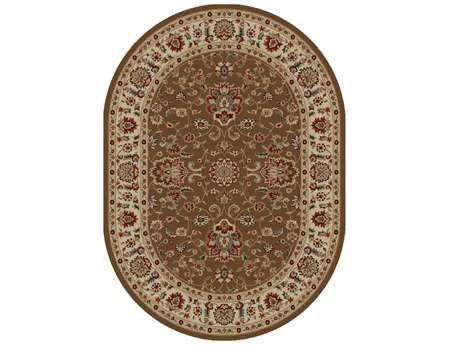 Mayberry Timeless Olivia Oval Brown Area Rug