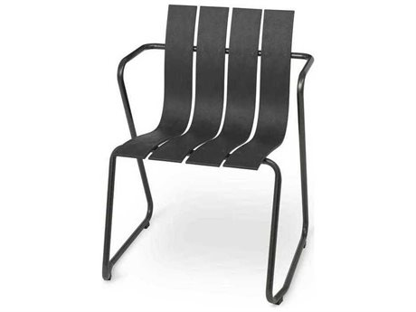 Mater Outdoor Ocean Black Recycled Plastic Lounge Chair PatioLiving