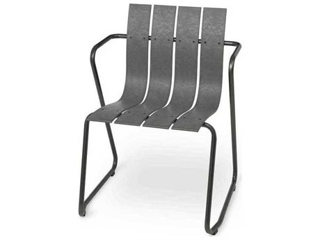 Mater Outdoor Ocean Concrete Green Recycled Plastic Lounge Chair PatioLiving