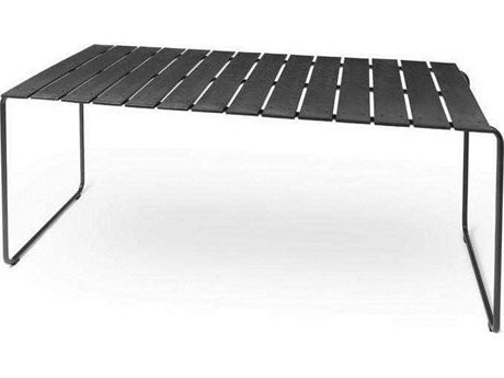 Mater Outdoor Ocean Black 55'' Wide Recycled Plastic Rectangular Dining Table PatioLiving