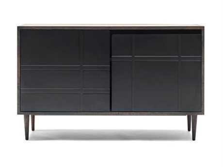 Mater Soren Sirka Grey Mango 47'' x 18'' Rectangular Sideboard with Black Door