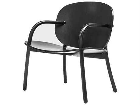 Mater Cloudy Black Satin Accent Chair