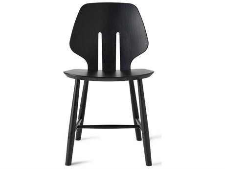 Mater Danish Black Stained Oak Dining Side Chair